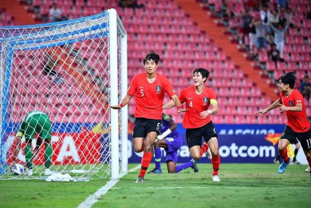 هدف كوريا الجنوبية فى السعودية فى نهائي كأس امم اسيا تحت 23 عاما (صور: AFC twitter)