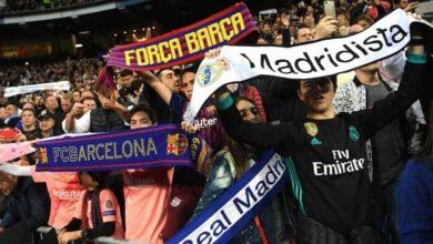 صورة تجمع جماهير ريال مدريد وبرشلونة في مدرج واحد(صورة: rasset.ie)