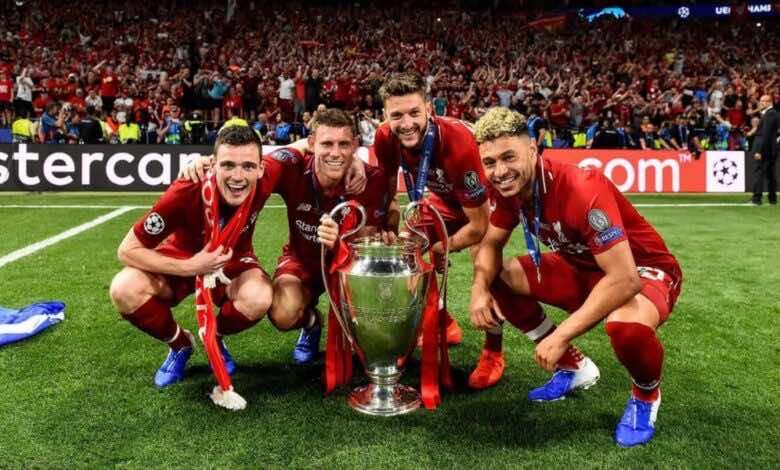 ادم لالانا يحتفل بكأس دوري أبطال أوروبا (صورة :Getty)