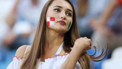 صورة لإحدى مشجعات منتخب كرواتيا (صور:MathFuns)