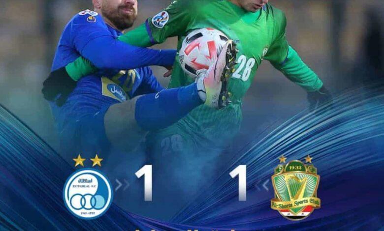 اهداف مباراة الشرطة واستقلال طهران فى دوري ابطال اسيا (صور:twitter)