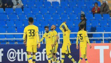 فرحة لاعبو التعاون السعودي بالفوز على فريق الدحيل القطري بدوري ابطال اسيا 2020 (صور:twitter)