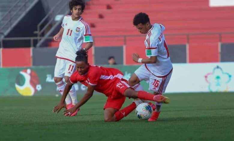 مباراة الامارات والسودان فى كأس العرب تحت 20 عام المقامة بالسعودية (صور:twitter)