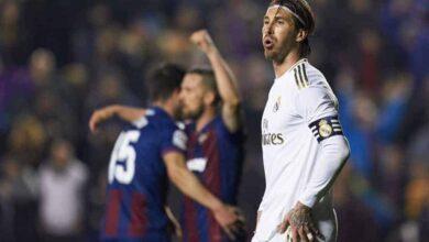 ليفانتي يهزم ريال مدريد في الدوري الاسباني 2020 تحت أنظار سيرخيو راموس (صور: Getty)
