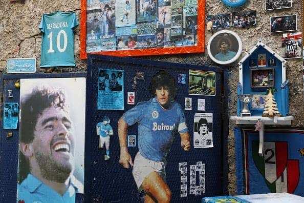 دييجو ارماندو مارادونا- اسطورة نابولي وبرشلونة (صور:Getty)