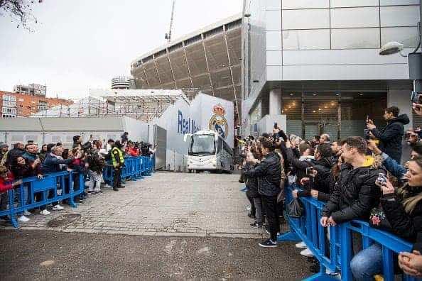حافلة ريال مدريد قبل مواجهة برشلونة في الكلاسيكو - مارس ٢٠٢٠ (صور: Getty)