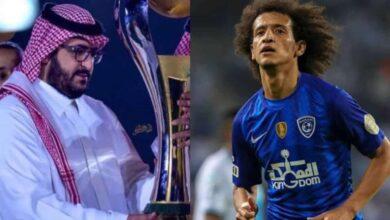 عمر عبد الرحمن وسعود آل سويلم رئيس النصر (صورة: Mercatoday)