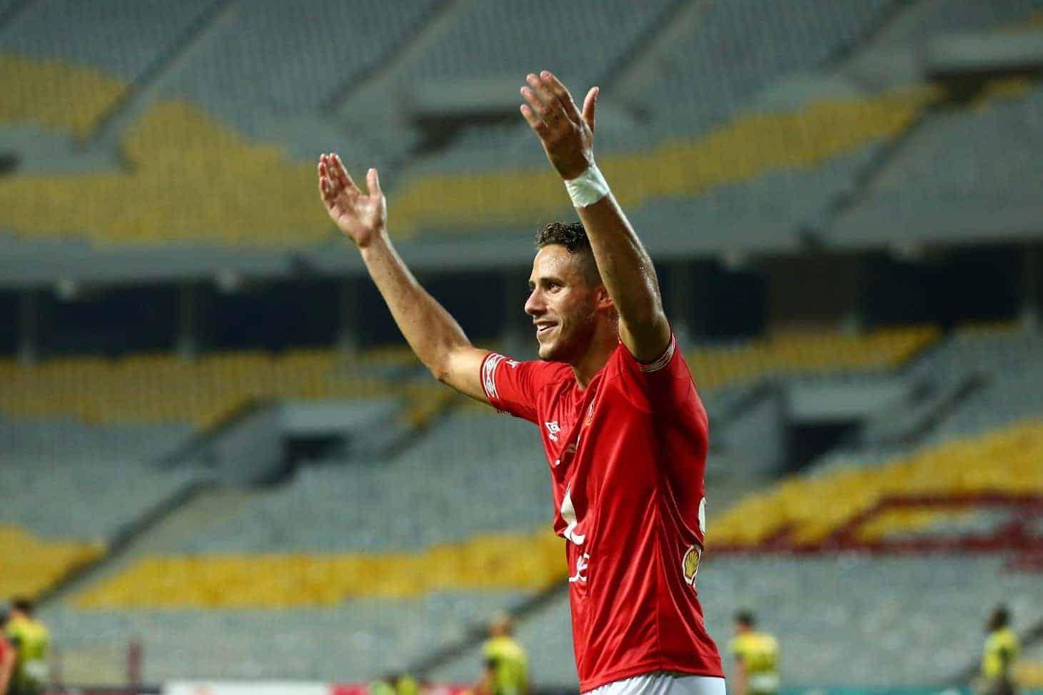 رمضان صبحي لاعب هدرسفيلد المعار إلى صفوف الأهلي (صورة: Alahly)