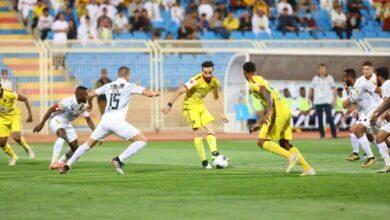 مباراة الحزم والاتحاد فى الدوري السعودي (صور:twitter)