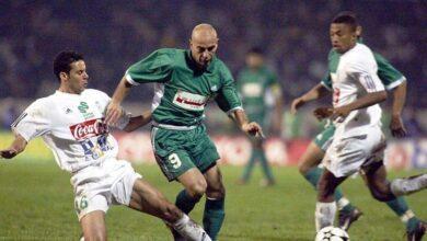 حسام حسن في نهائي دوري أبطال أفريقيا 2002 بين الزمالك المصري والرجاء البيضاوي (صور: Getty)