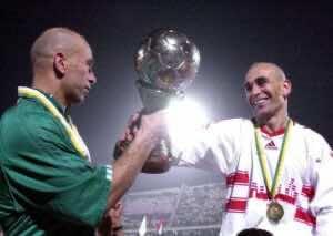 حسام حسن وإبراهيم حسن يقودان نادي الزمالك للتتويج في دوري أبطال أفريقيا 2002 (صور: Getty)