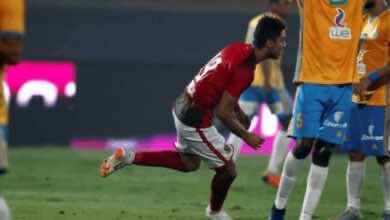 محمد شريف لاعب الأهلي المُعار لنادي إنبي (صورة: AFP)