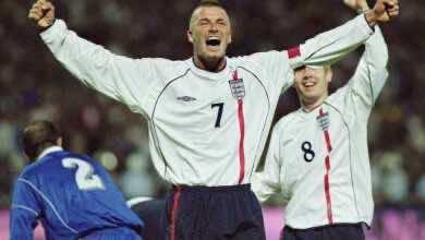 صورة فيديو جميع أهداف ديفيد بيكهام مع منتخب انجلترا