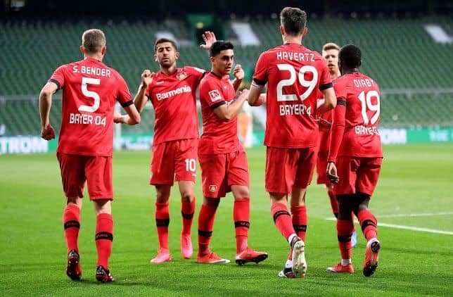 نتيجة مباراة ليفركوزن وبريمن في الدوري الألماني