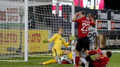كاي هافيرتز يسجل هدف مذهل فى شباك فرايبورج ويقود ليفركوزن للفوز فى مباراة الفريقين بالبوندسليجا (صور:AFP)