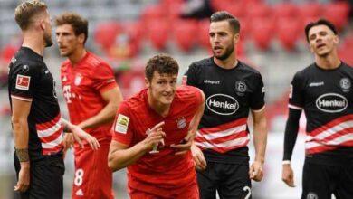 نتيجة مباراة بايرن ميونخ ودوسلدورف في الدوري الألماني