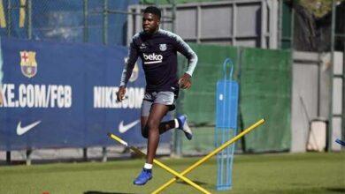 أومتيتي يُصاب بعد أول حصة تدريبية مع برشلونة