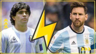 صورة مقارنة | من الأفضل دييجو مارادونا أم ليونيل ميسي؟