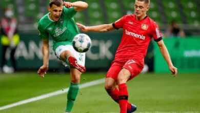فيديو   أهداف مباراة فيردر بريمن وباير ليفركوزن في الدوري الألماني