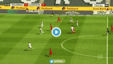 فيديو أهداف مباراة ليفركوزن ومونشنجلادباخ في الدوري الألماني
