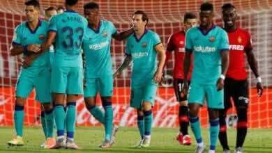 صورة في مباراة من طرفين..برشلونة يهزم مايوركا 4-0 ويعزز صدارته للدوري الاسباني