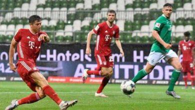 فيديو أهداف مباراة بايرن ميونخ وفيردر بريمن في الدوري الالماني