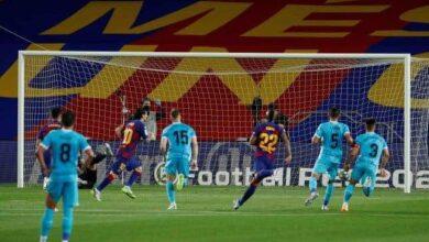 صورة برشلونة يتابع ضغطه على ريال مدريد بهزيمة ليجانيس في الدوري الاسباني