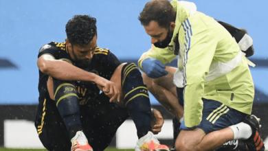 مدافع ارسنال يغيب لنهاية الموسم