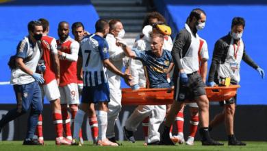 """فيديو   شاهد إصابة لينو """"المرعبة"""" مع ارسنال في الدوري الانجليزي"""