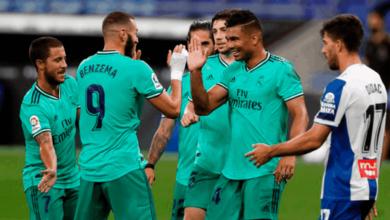 """صورة ملخص مباراة ريال مدريد واسبانيول في الدوري الاسباني """"زيدان ينفرد بالصدارة من مدينة برشلونة"""""""