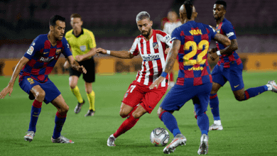 """صورة ملخص مباراة برشلونة واتلتيكو مدريد في الدوري الاسباني """"قمة ركلات الجزاء"""""""