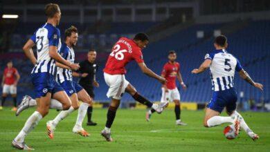 صورة أهداف مباراة مانشستر يونايتد وبرايتون فى الدوري الانجليزي