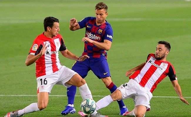 آرثر ميلو من مباراة برشلونة وأثلتيك بيلباو