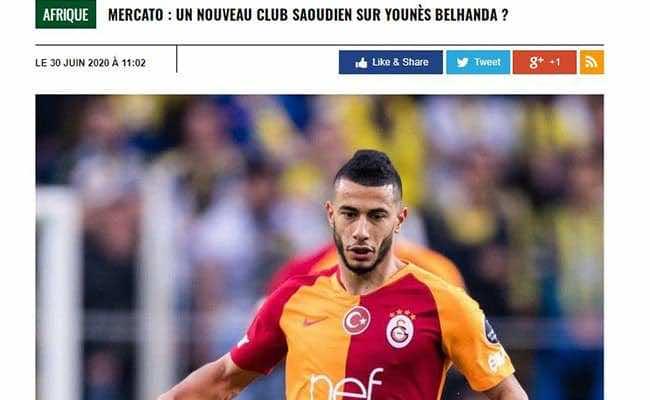 """موقع """"africatopsports"""" يؤكد اهتمام الهلال والنصر بالمغربي يونس بلهندة"""