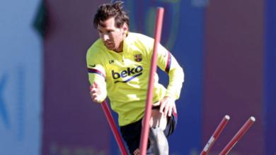 ليونيل ميسي يستعد لمواجهة برشلونة وريال مايوركا