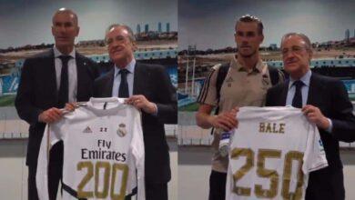صورة لماذا كرّم فلورنتينيو بيريز زيدان وبيل بعد مباراة ريال مدريد ضد إيبار؟