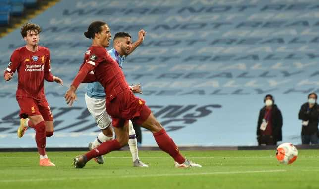 مباراة ليفربول والسيتي فى الدوري الانجليزي (صور:AFP)