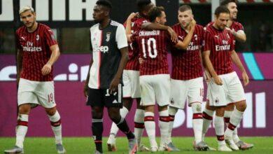 مباراة ميلان ويوفنتوس فى الدوري الايطالي (صور:AFP)