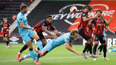 صورة توتنهام يُهدر نقطتين ثمينتين بالتعادل أمام بورنموث فى الدوري الانجليزي
