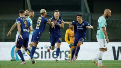 مباراة الانتر وفيرونا فى الدوري الايطالي (صور:AFP)