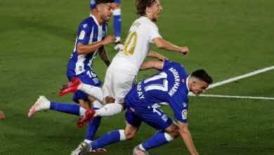 مباراة ريال مدريد والافيس فى الدوري الاسباني (صور:AFP)