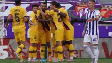 صورة برشلونة يعود منتصرًا من بلد الوليد ويعاود الضغط على ريال مدريد