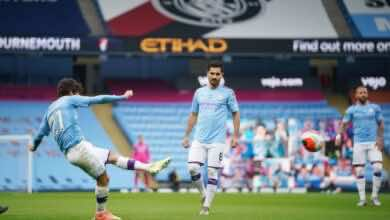 أهداف مباراة مانشستر سيتي وبورنموث فى الدوري الانجليزي (صور:AFP)