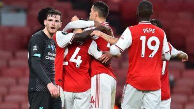 مباراة فوز ارسنال على ليفربول فى الدوري الانجليوي (صور:AFP)