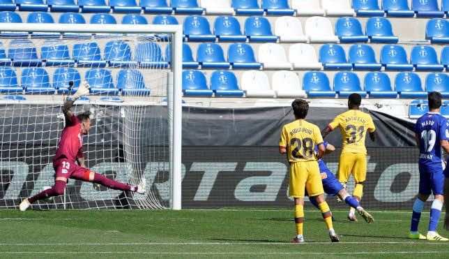 فاتي - مباراة برشلونة والافيس فى ختام الليجا 2019-20 (صور:AFP)