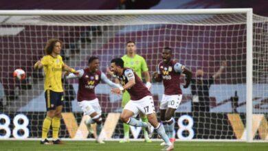 تريزيجيه يُمزق شباك آرسنال ويُنعش آمال أستون فيلا في الدوري الانجليزي (صور:AFP)
