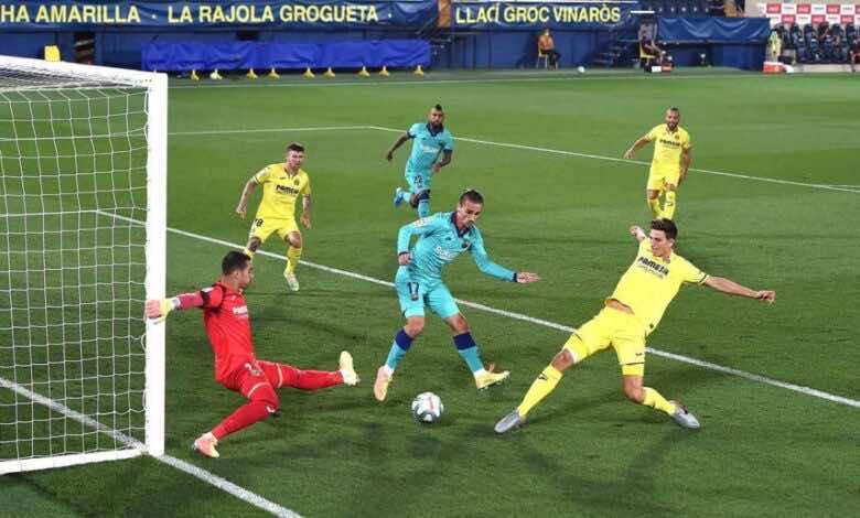 أهداف مباراة برشلونة وفياريال فى الدوري الاسباني
