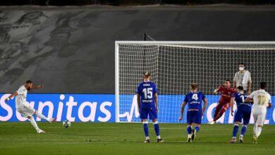 أهداف مباراة ريال مدريد وآلافيس في الدوري الاسباني