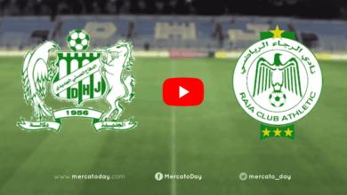 صورة بث مباشر   شاهد الرجاء والدفاع الجديدي في الدوري المغربي
