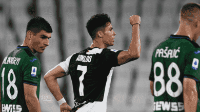 فرحة رونالدو بهدفه في مباراة يوفنتوس وأتالانتا في الدوري الايطالي
